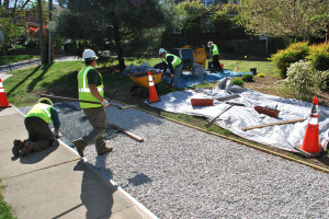 custom porous pavement applications