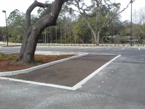 porous parking stalls