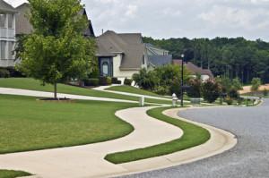 sidewalk construction, sidewalk, concrete