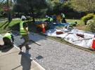 porous turf installation