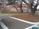 porous turf parking lot